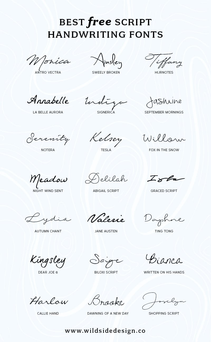 free handwritten cursive fonts for mac