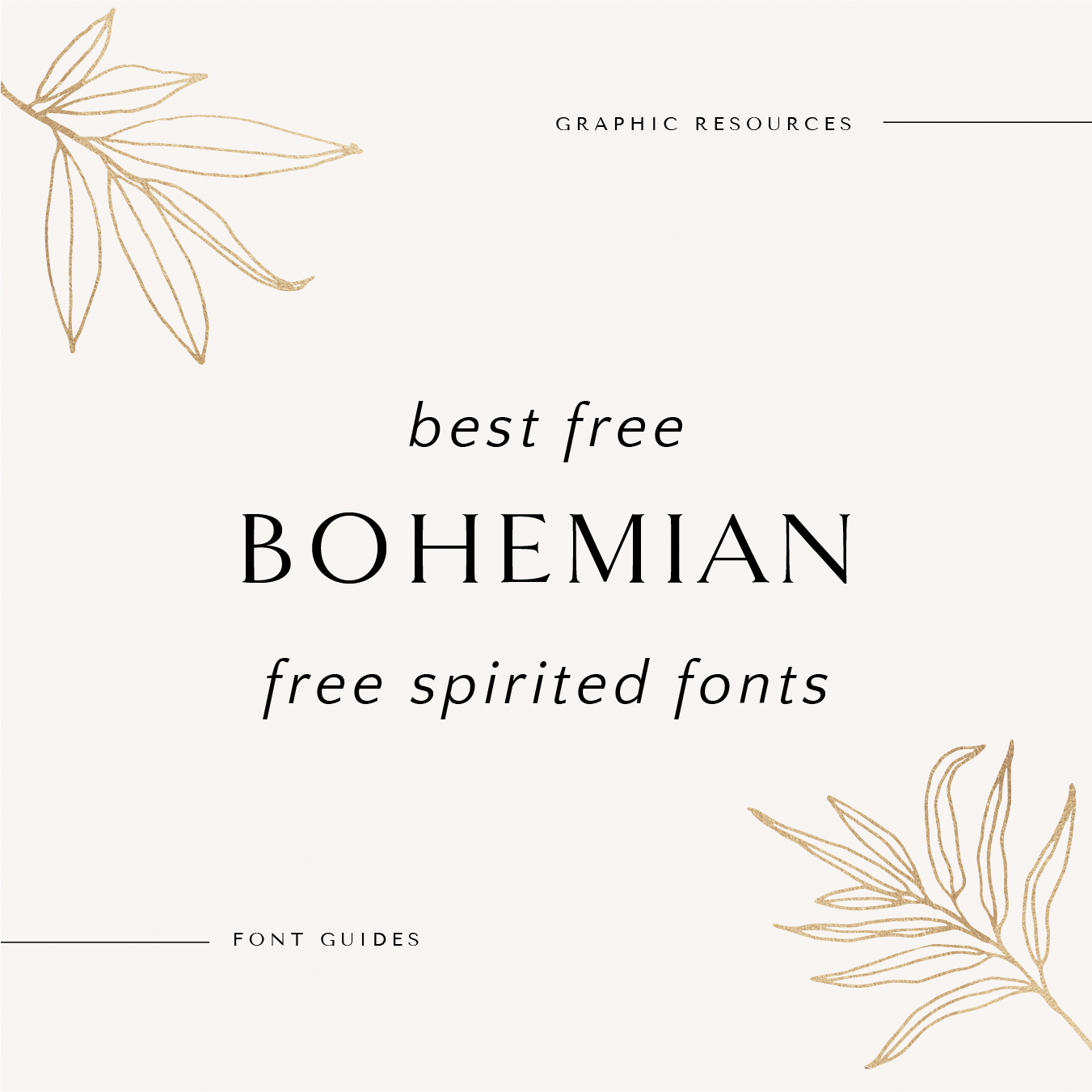Best Free Bohemian Free Spirited Fonts Wild Side Design Co